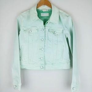 Levi's Denim Jacket Mint Green Pigment Dyed